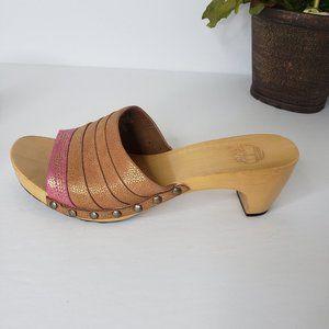 Timberland Tila Pink Fashion Slides Sandals 7.5